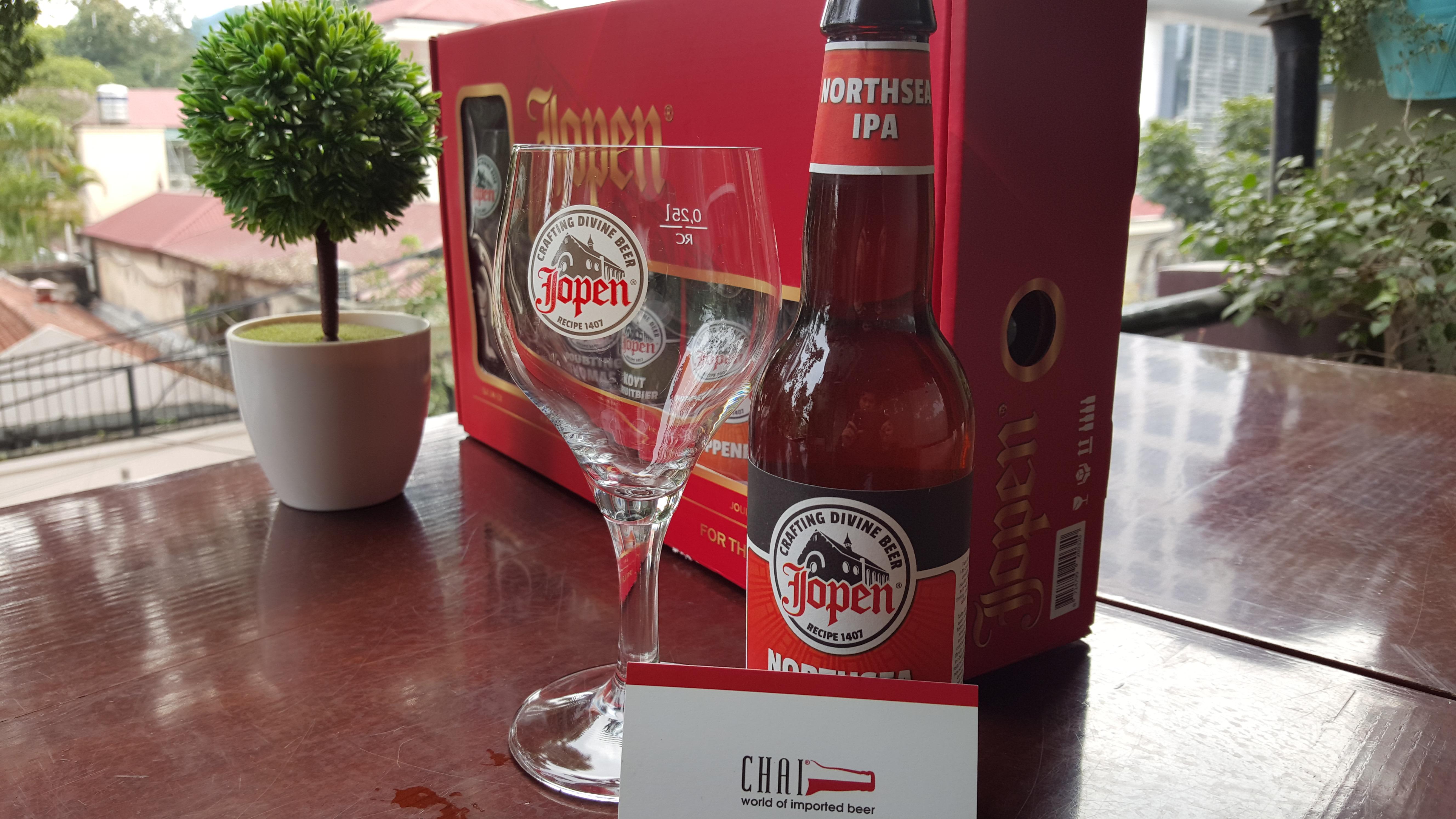 Bán bia nhập khẩu hộp quà bia Jopen Hà Lan (5 chai + 1 ly)