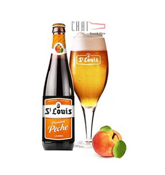 Bia Premium Peche 250ml 2.6%vol/ Bia Bỉ nhập khẩu