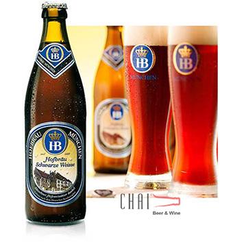 Bia HOFBRÄU Münchner Schwarze Weisse 500ml 5.1%vol/ Bia Đức nhập khẩu