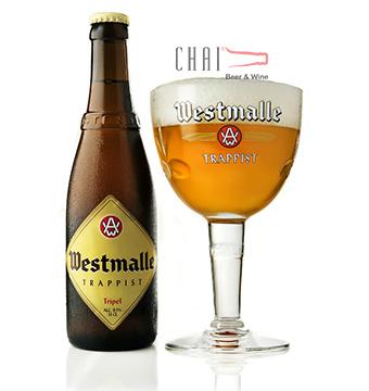 Bia Westmalle Tripel Trappist 330ml 9.5%vol/ Bia Bỉ nhập khẩu