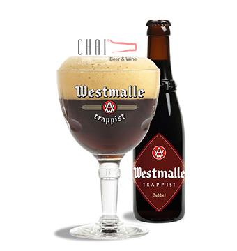 Bia Westmalle Dubbel 330ml 7%vol/ Bia Bỉ nhập khẩu