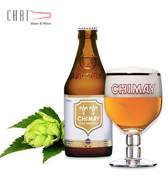 Bán bia nhập khẩu bia Chimay Trắng 330ml 8%vol/ Bia Bỉ nhập khẩu