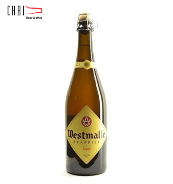 Bia Westmalle Tripel 750ml 9,5%vol/ Bia Bỉ nhập khẩu