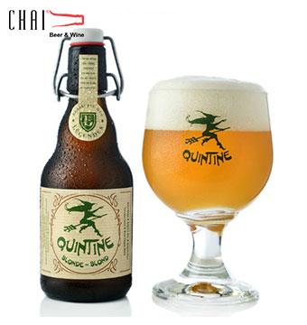 Bia Quintinne Blond 330ml 8%vol/ Bia Bỉ nhập khẩu