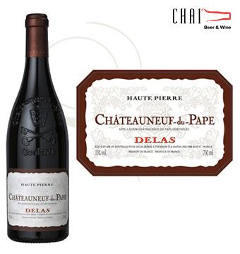 Vang Pháp ChâteauNeuf du Pape haute Pierre Rouge 2014
