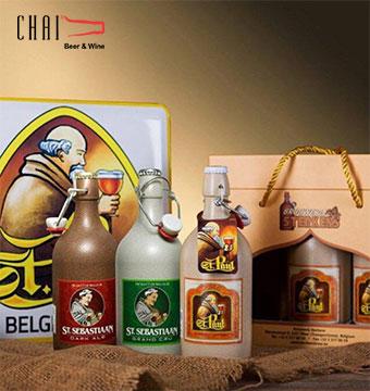 Hộp quà bia sứ Stenker 500ml/Bia Bỉ nhập khẩu