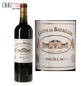 Vang Pháp Lions de Batailley Pauillac 2014