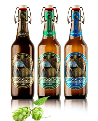 Bán bia nhập khẩu bia Stammgast Weizen Đức 500ml 5%vol